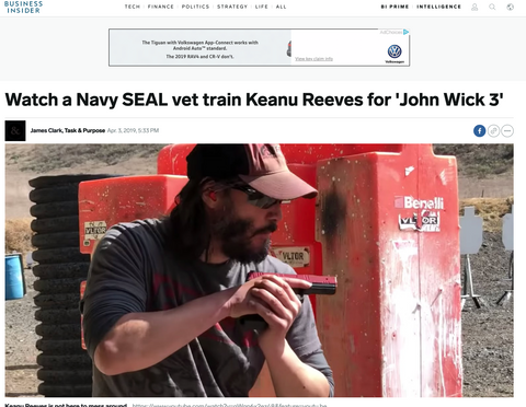 Watch a Navy SEAL vet train keanu reeves