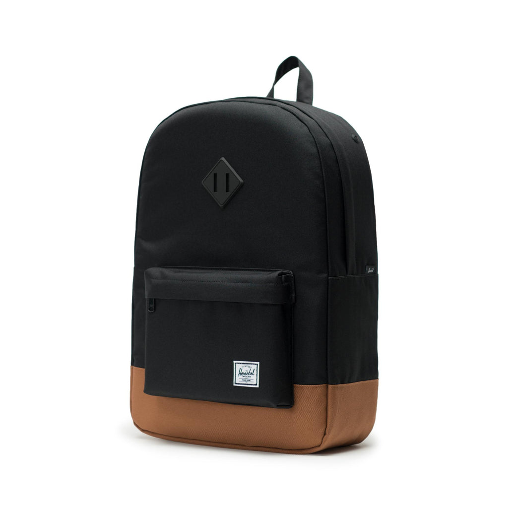 aeb7786a899 Herschel Supply Heritage Backpack - Black Saddle Brown – Classics ...