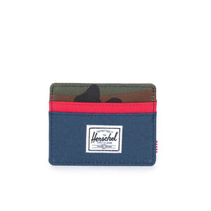 Charlie Wallet - Navy Red Woodland Camo