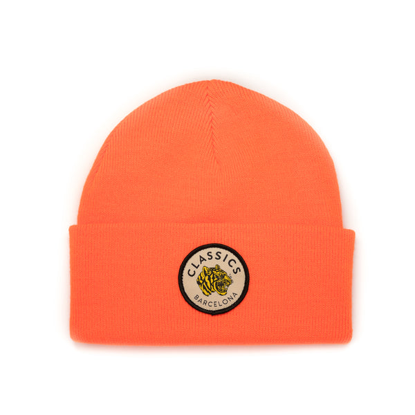 Tiger Beanie - Neon Orange