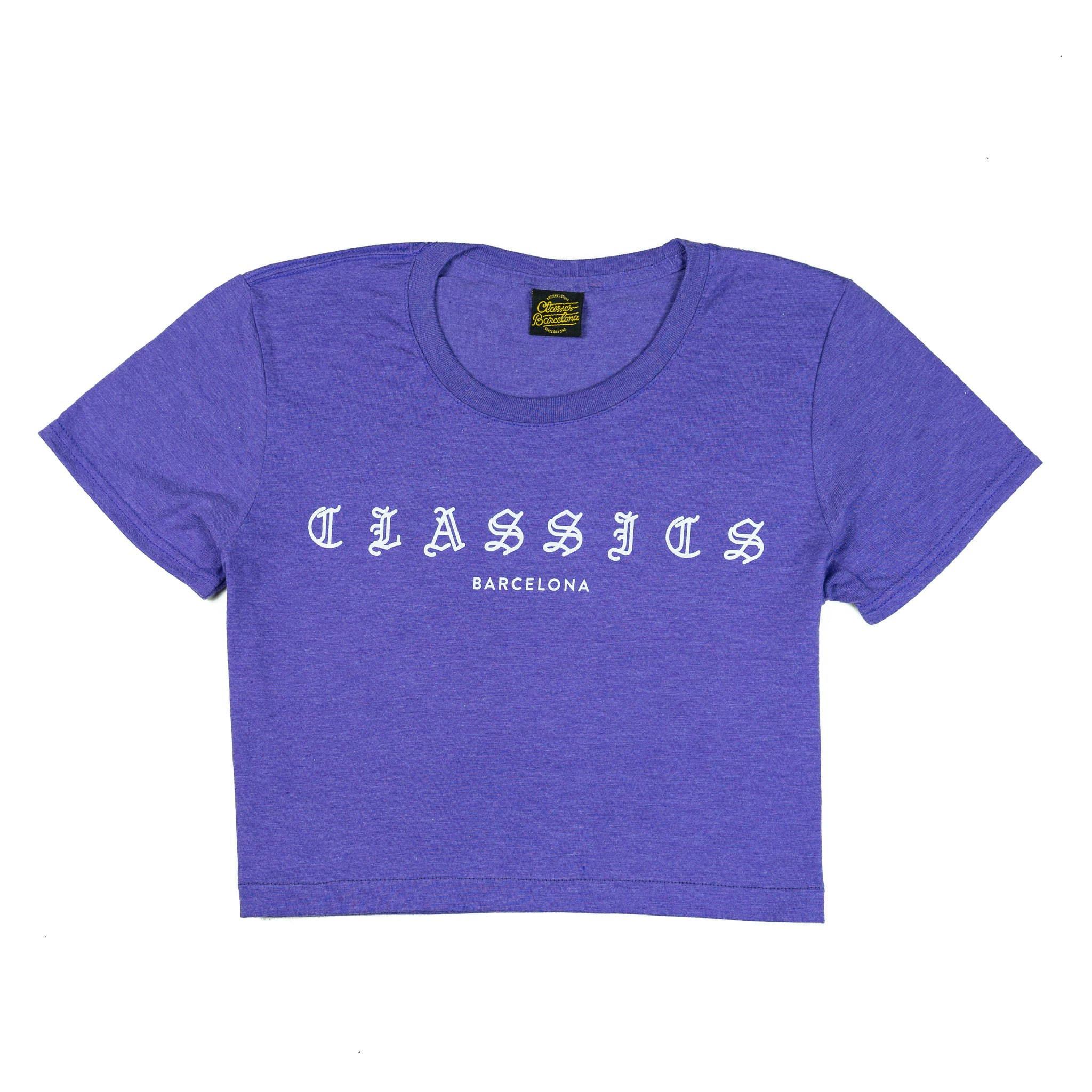 G Quarter Crop Top - Heather Aubergine