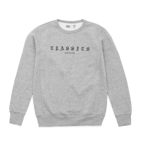G Quarter Crewneck - Heather Grey