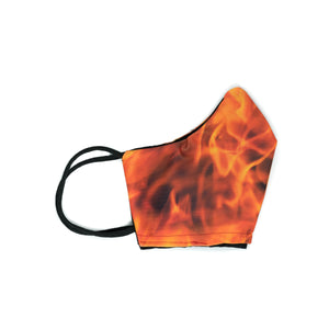 Flame Face Mask II - Fire Print- Mascarilla Higiénica Reutilizable