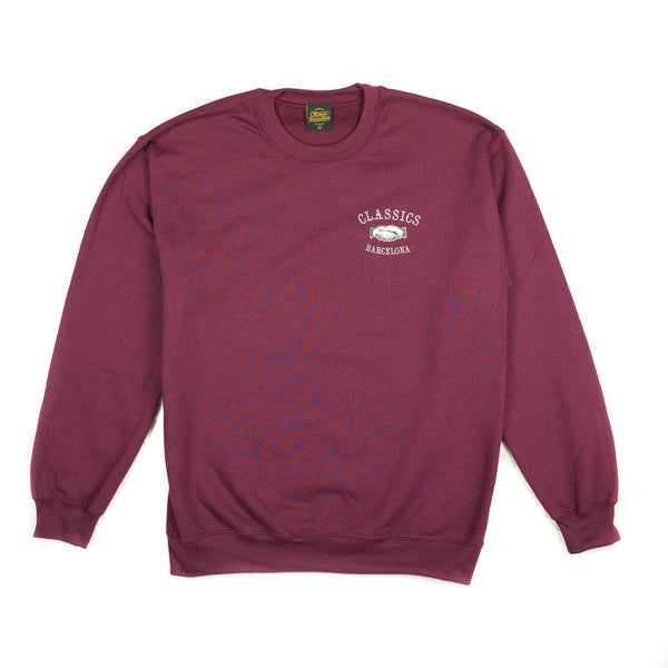 Triple F Crewneck - Burgundy