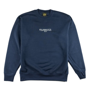 Kanji Life Embroidered Crewneck - Navy