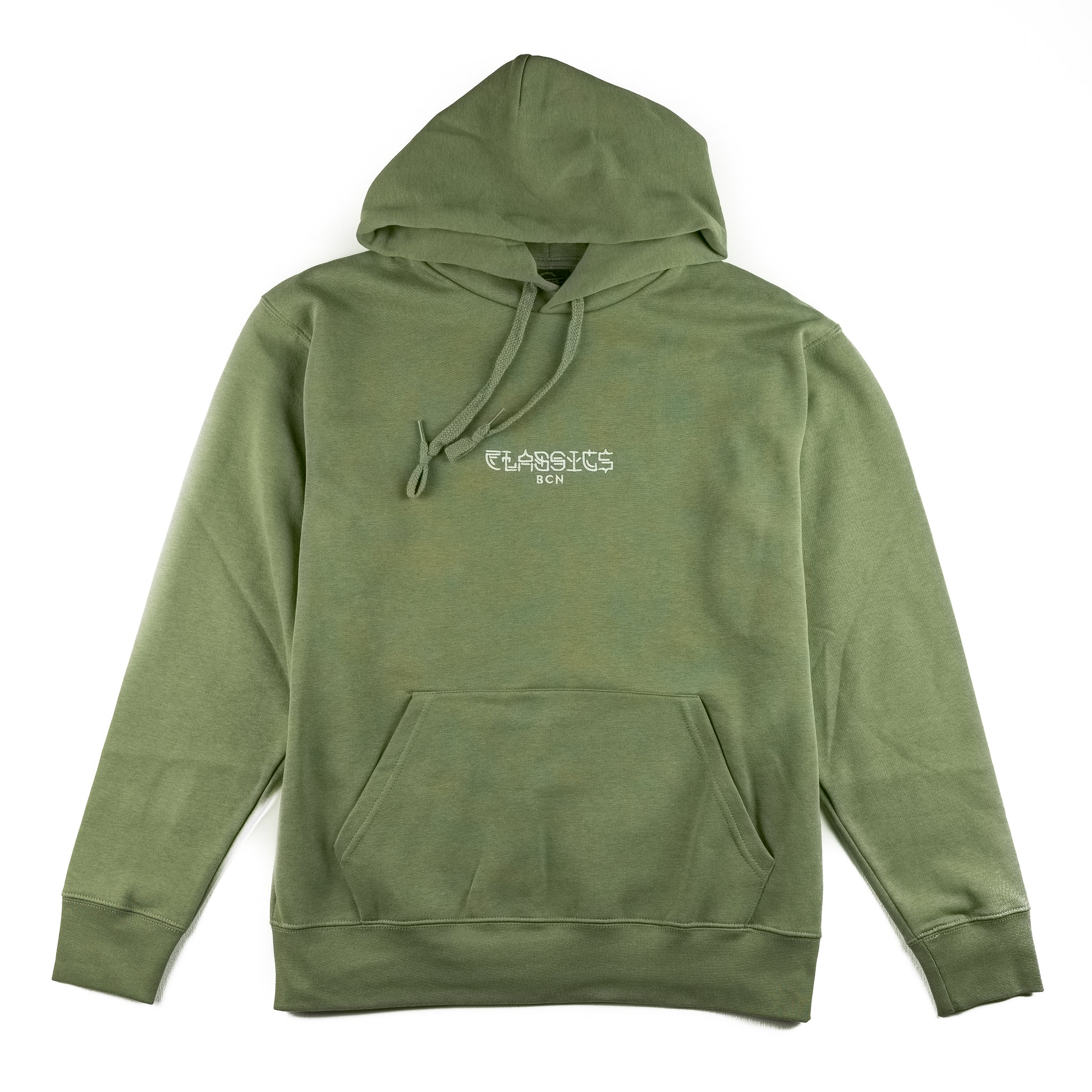 Kanji Life Embroidered Hoodie - Army Green