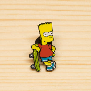 Bart Simpson Skateboarding Pin
