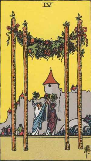 FOUR OF WANDS