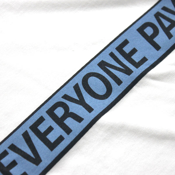 Everyone Pays Blue Logo Tee