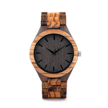 Bamboo Zebra Wood Case Men Watch