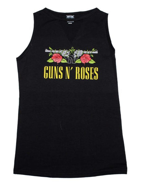 Guns n Roses Guns Print Sleeveless Women's Tee with V-Cutout