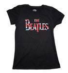 Beatles Union Jack Classic Logo Juniors T-Shirt