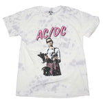 AC/DC Rocks Distressed Print T-Shirt