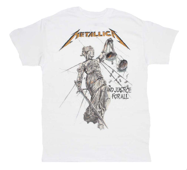 Metallica And Justice for All White T-Shirt