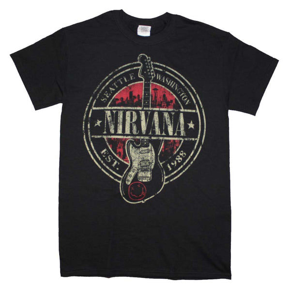 Nirvana Established 1988 Guitar Stamp T-Shirt