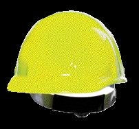 Fibre-Metal Hi-Viz Yellow SUPEREIGHT SWINGSTRAP Class E, G or C Type I Thermoplastic Hard Hat With 3-S Swingstrap Suspension
