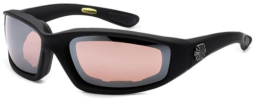 Chopper Foam Padded Sunglasses Rose Mirror