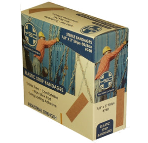 Elastic Strip Bandages 7/8x3