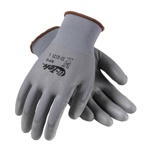 PIP33-G125 G-TEK® GP™ SEAMLESS KNIT NYLON GLOVE WITH POLYURETHANE COATED SMOOTH GRIP