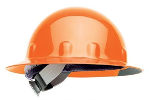 Fibre-Metal Hi-Viz Orange SUPEREIGHT Class E, G or C Type I Thermoplastic Hard Hat With Full Brim And 3-R Ratchet Suspension