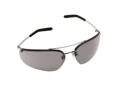 15171 3M™ Metaliks™ Protective Eyewear, Gray Anti-Fog Lens, Polished Metal Frame