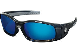 Crews Glasses Swaggeer® Black frame, Blue Diamond Mirror Lens