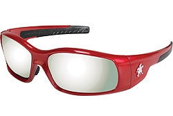 Crews Glasses Swaggeer® Red frame, Silver Mirror Lens