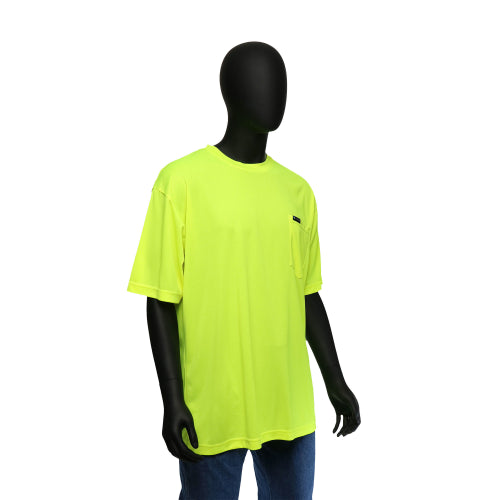 Hi-Viz Economy Safety Shirt Short Sleeved Yellow