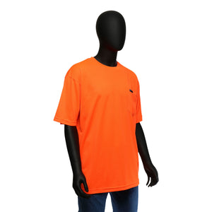 Hi-Viz Economy Safety Shirt Short Sleeved Orange