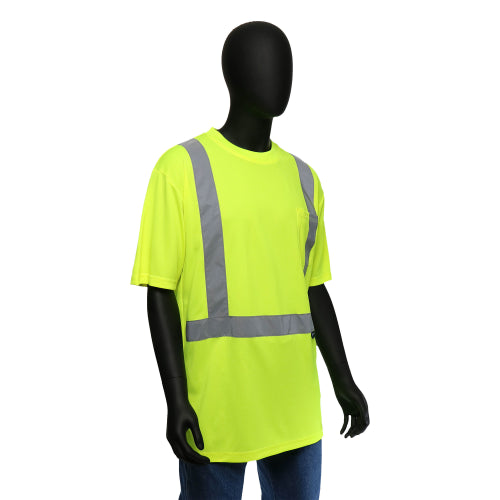 Hi-Viz Economy Safety Shirt Short Sleeved Yellow Class 2
