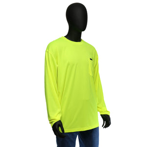 Hi-Viz Economy Safety Shirt - Long-Sleeved Yellow