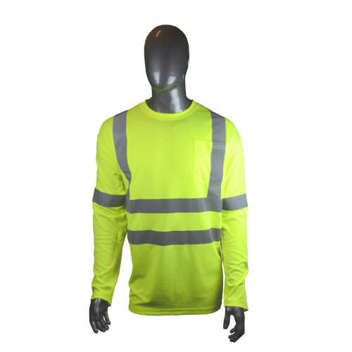 Hi-Viz Standard Safety Shirt - Long-Sleeved (Class 3) Yellow
