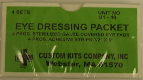 Eye Dressing Pads 4/bx