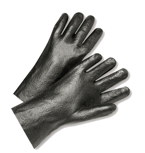 Semi-Rough Grip PVC Coated Gloves
