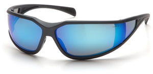 Pyramex Exeter Charcoal Gray Ice Blue Mirror Lens
