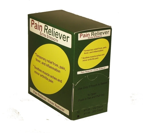 Extra Strength Pain Reliever 50-2's 100/bx