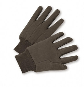 Cotton Brown Jersey Gloves 100% Cotton Men
