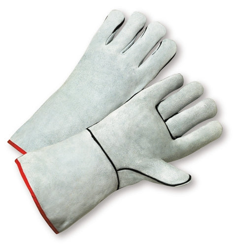 Standard Grey Split Cowhide Leather Welder Gloves