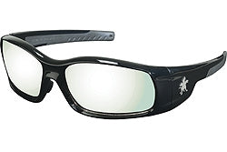 Crews Glasses Swaggeer® Black frame, Indoor/Outdoor Mirror Lens