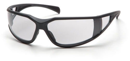 Pyramex Exeter Charcoal Gray Clear Lens