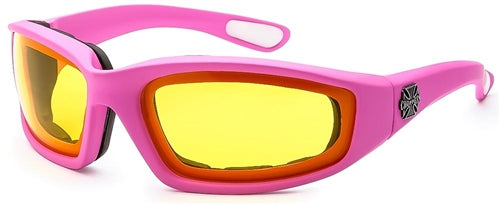 Chopper Foam Padded Sunglasses Amber