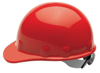 Fibre-Metal Red SUPEREIGHT SWINGSTRAP Class E, G or C Type I Thermoplastic Hard Hat With 3-S Swingstrap Suspension