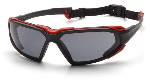 Pyramex Highlander Black Red Gray Lens