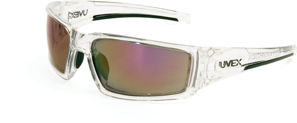 S2974HS 	Clear Ice Frame Red Mirror Lens, Hardcoat