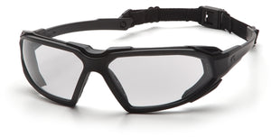 Pyramex Highlander Black Clear Lens