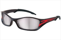Crews Glasses Tribal® graphite/red tattoo frame, Indoor/Outdoor Mirror anti-fog lens