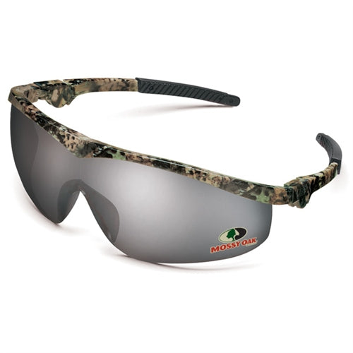 Crews Glasses Mossy Oak® Camo frame, Silver Mirror lens