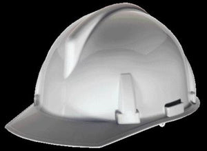 MSA White TopGard Class E Type I Slotted Hard Cap With 1-Touch Suspension