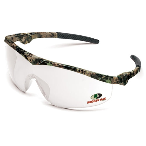 Crews Glasses Mossy Oak® Camo frame, Clear lens