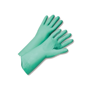 "FL Green Nitrile 15 mil 13"" Glove Large"